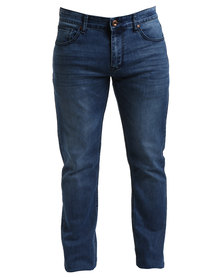 Jonathan D Metal Straight Leg Jeans Blue