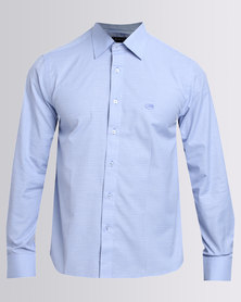 Jonathan D Formal Geometric Shirt Blue