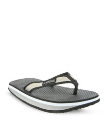 Jordan Beach Flip Flops Grey