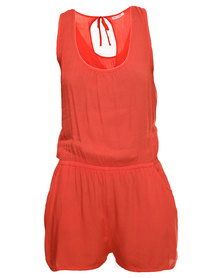 Jorge Bewitched Romper Red