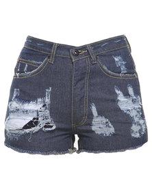 Jorge Blur Shorts Blue