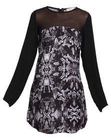 Jorge. Cobra Dress Black