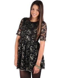 Jorge Fade to Black Skater Dress Black