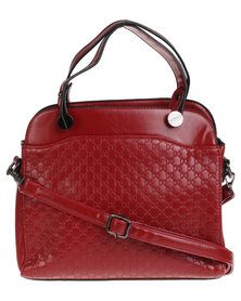 Joy Collectables Ladies Structured Fashion Handbag Red