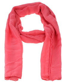 Joy Collectables Ladies Plain Fashion Scarf  Red