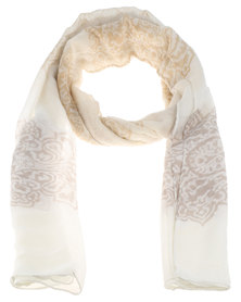 Joy Collectables Lace Printed Scarf Neutrals