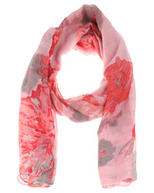Joy Collectables Watercolour Floral Scarf Pink