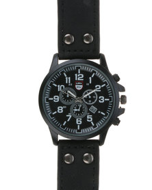 Joy Collectables Fashion Mens Watch Black
