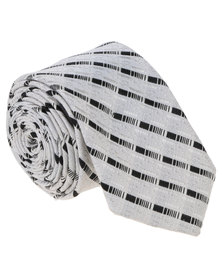 Joy Collectables Mens Design Tie With Stripes Black