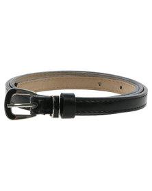 Joy Collectables Tonal Keeper Skinny Belt Black