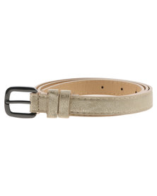 Joy Collectables Minimalist Skinny Belt Gold