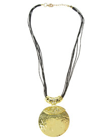 Joy Collectables Pendant Necklace Gold/Black
