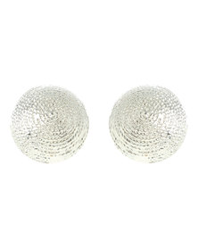 Joy Collectables Round Stud Earring Silver