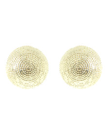 Joy Collectables  Round Stud Earrings Gold