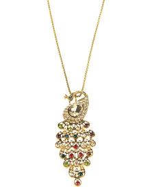 Joy Collectables Peacock Pendant Necklace Gold-Tone