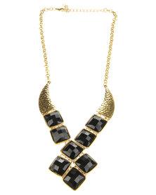 Joy Collectables Black Crystal Necklace