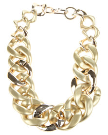 Joy Collectables Chain Link Necklace Gold-Tone