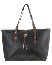 Joy Collectables Trim Detail Tote Bag Black
