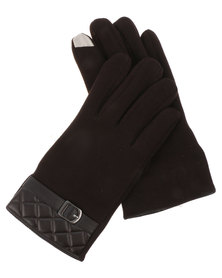 Joy Collectables Buckle Quilt Gloves Brown