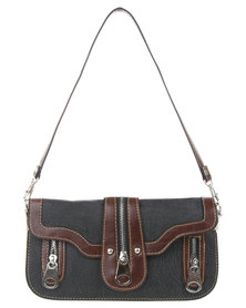 Joy Collectables Colour Block Zip Detail Cross Body Bag