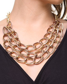 Joy Collectables Chainlink Necklace Gold