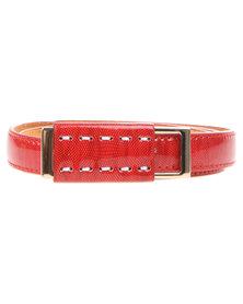 Joy Collectables Slder Skinny Belt Red