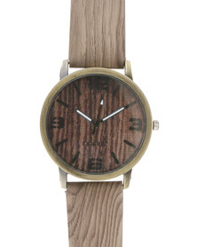 Joy Collectables Mens Fashion Watch Brown