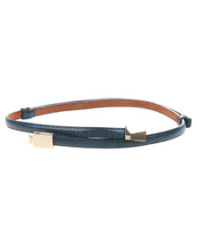 Joy Collectables Double Metal Skinny Belt Blue