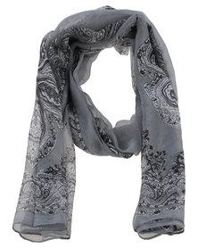 Joy Collectables Ladies Paisley Printed Scarf Grey