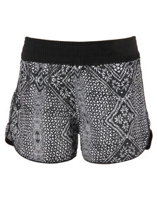 Just Add Sugar Tribal Shorts Black
