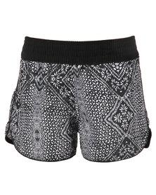 Just Add Sugar Tribal Shorts Black