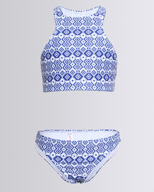 Just Jump! Trackini Set With Print Blue/White