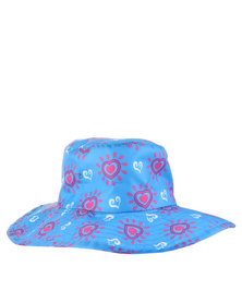 Just Jump! Blue Hearts Water Repellent Hat Blue/Pink