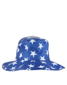 Just Jump! Stars Water Repellent Hat Blue