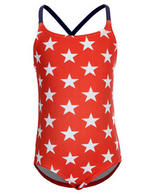 Just Jump! Star X Back One Piece Red