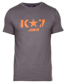 K7Star Logo T-Shirt Charcoal
