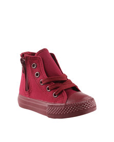 K7Star Tods Star Tech Basic Zip Sneakers Red