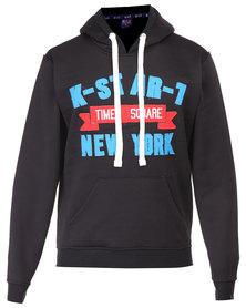 K7Star Manhattan Fleece Hoodie Black