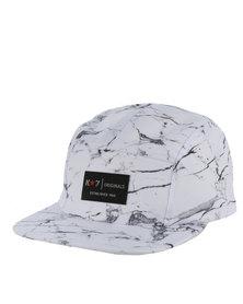 K7Star Dye Marble Cap White