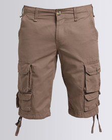 K7Star Cargo Shorts Taupe
