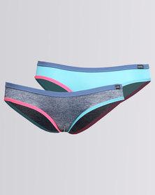Kangol 2 Pack Bikini Cut Pant Set Multi
