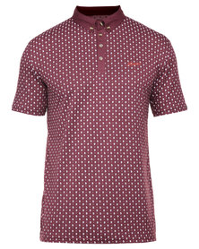Klevas Zach Polo Shirt Burgundy