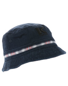 Klevas Ramirez Check Reversible Bucket Hat Blue