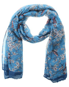 Klines Blue Bird Scarf Blue