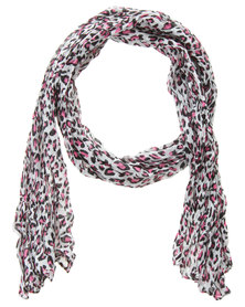 Klines Colour Pop Leopard Print Scarf Multi