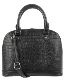 Klines Croc Dome Bag Black