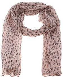 Klines Lucky Black Cat Scarf Pink