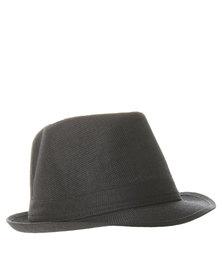 Klines Plain Band Trilby Hat Black
