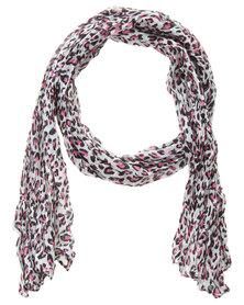 Klines Colour Pop Leopard Print Scarf Multi