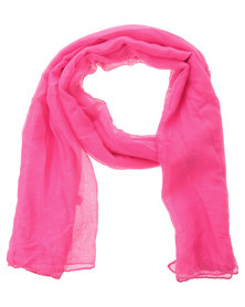 Klines Solid Colour Crinkle Sarong Scarf Fuschia Pink